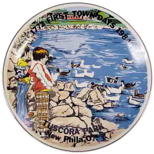 1984 First Town Days Souvenir Plate