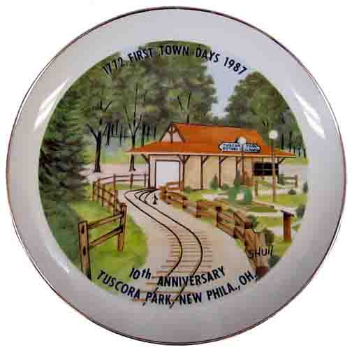 1987 First Town Days Souvenir Plate